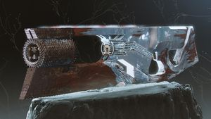Picture of the new exotic trace rifle, Ruinous effigy, as shown in the Season of Arrivals trailer.