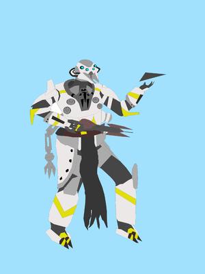 A very poorly drawn image of Commander Vassek