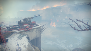 Artillery overlooking Giant's Husk from Bunker Triglav