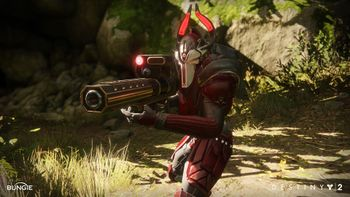 Render of a Red Legion Psion with a Cabal Headhunter. By Chelsea Velazquez.