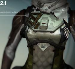 Sinaa Jaguar chest armor. Source: Destiny Wiki. Artist: Bungie. Accessed on 2015-05-29