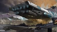 Phobos Cabal transport ship by Dorje Bellbrook.jpg