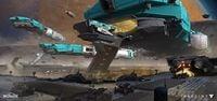 Phobos Cabal transport ship by Dorje Bellbrook-1.jpg