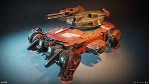Render of a Red Legion Goliath Tank