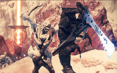 A Titan using a Hive Cleaver during the Escalation Protocol event.